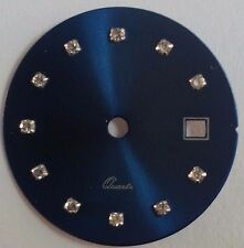 Quadrante tipo Rx blu con zirconi per calibro ETA 956.112-F03.111-Ronda 775