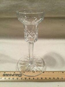 Glass Art Deco Candlestick Candle Holder Vintage Lead Crystal Goblet Style K