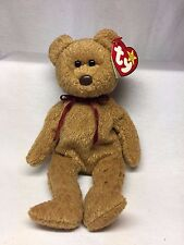 Rare Retired TY Beanie Baby Curly The Bear With 5 Swing & Tush Tag Typo Errors