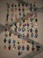 Lot of 10 LEGO Minifigure People RANDOM, Ninjago, City, Knights, Marvel