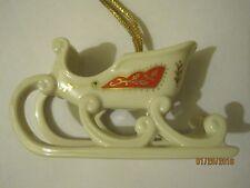 """Lenox China """"Sleigh"""" Christmas Keepsake Collection *No Box* Christmas Ornament"""