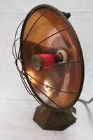 Vintage Copper Electric Radiant Heater - It Works & Art Deco Decorative Piece!
