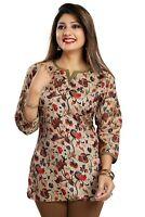 Women Indian Kurti Printed Designer Ethnic Kurta Shirt Dress SC2502 RED