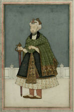 18th Century Indian Mughal Miniature Painting Emperor Humayun Gold Illuminated