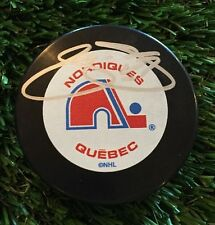 JOE SAKIC QUEBEC Signed Vintage Hockey NHL Auto Puck JSA/COA N23593