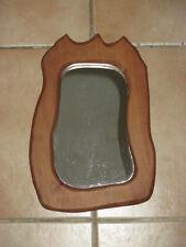 Miroir artisanal bois de poirier 60s Vintage French Wooden Mirror Shabby Chic
