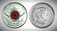 Canada 2008P Remembrance Day Poppy 25 Cents Gem BU UNC Quarter!!