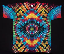 Hippie Tie Dye batik Flowerpower Goa manga corta t-shirt mano teñidos talla 3xl nuevo