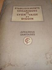 catalogue céramiques lavabos - bidets - éviers - Lyon Vaise et Digoin 1930 ref 1