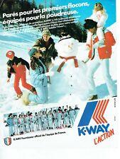 Publicité Advertising 039  1982   K-Way  vetements ski  équipe France