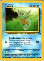Vintage 1999 Basic Pokemon Horsea 49/62 Common Rarity Fossil Set Card Water Blue