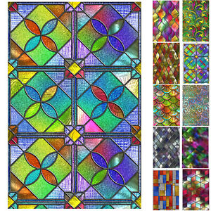 Static Cling Frosted Stained Bathroom Glass Window Film Sticker Privacy Decors.