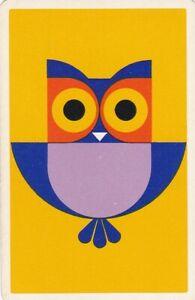 Vintage Swap Playing Card, Bird,,  Retro, Owl