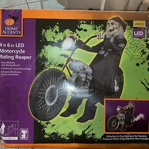 Home Accents Halloween talks move Motorcycle Riding Reaper 4.5' Rare animatronic