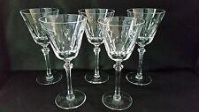 "Lenox Hanover 5 Wine Glasses 7 1/4"""" Crystal Stemware"