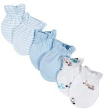 GERBER WONDER NATION NEWBORN BABY BOY'S 3-Pack Cotton Mittens - PUPPIES - Blue