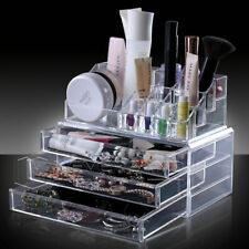 Acrylic Clear Makeup Cosmetic Organiser Case Jewelry Storage Holder Drawers