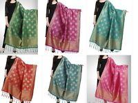 Women's Silk Banarasi Ethnic Dupatta Party Wear 2.25 meter - Free Shipping