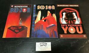 Superman Red Son, Complete 3 Issue Series!  High Grade! Mark Millar