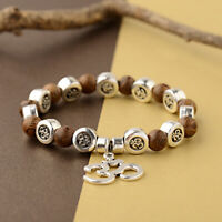 Wooden 8mm Beads Reiki Yoga Bracelets Healing Men Women Chakra Fashion Jewellery