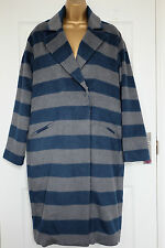 M&S Limited Edition Grey Mix Long / Overcoat with Wool