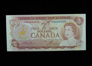 1974 $2 Bank of Canada Banknote ABW 6865534 Lawson Bouey UNC Grade Bill