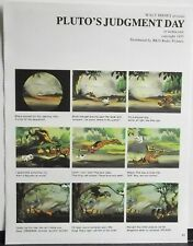 PLUTO'S JUDGMENT DAY storyboard format Disney animated cartoon short FREE US S/H