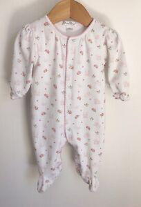 Kissy Kissy Designer Baby Grow Size 3-6 Months Fairy Castle Rose Pima Cotton