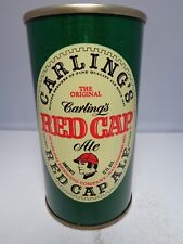 RED CAP ALE CARLING STRAIGHT STEEL PULL TAB BEER CAN #112-35 BALTIMORE MARYLAND