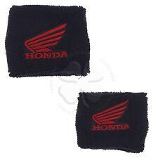 Large & Small Black Honda Wing Brake & Clutch Reservoir Sock Cover CBR