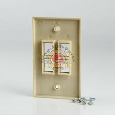 1x Four (4) Port / Gang Wall Plate For Keystone Jack CAT5 CAT6 RJ45 Lvory