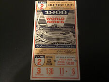 Beauty 1968 World Series Ticket Cardinals Detroit Tigers HR Horton, Cash, Lolich