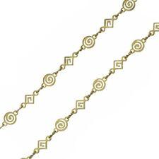 Antique Gold Chain Swirl/Diamond Shape Unfinished - 1 metre length  (G97/4)