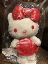 "Sanrio HELLO KITTY 35TH ANNIVERSARY COLORS RED PLUSH 9"" TALL"