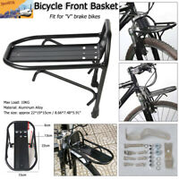 Aluminum Alloy Bicycle Front Basket Rack Luggage Shelf Bracket for V Brake Bike