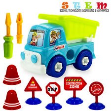 Take Apart Toys STEM Learning Construction Vehicle Play Set Gift for Boys Girls