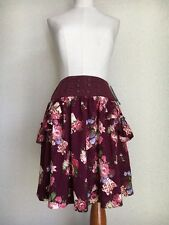 1329.BNWT!axes femme crimson flower and candles classic lolita elegant skirt