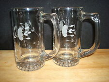NEW Princess House Heritage 2 Crystal Beer Mugs 412