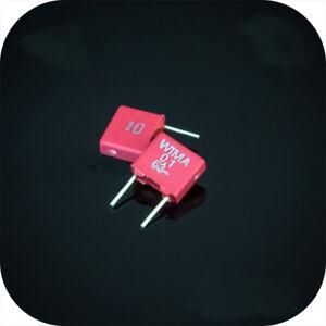 10 pcs For WIMA MKS2 63V 0.1uF 100nF Audio Crossover Non-Polarity Capacitor New