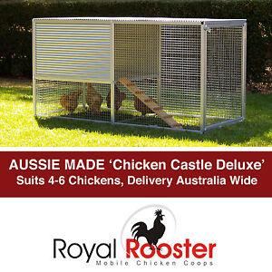 Metal Aluminium Chicken Coop Backyard Poultry House Hen Chook Tractor