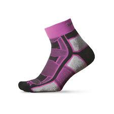 2 pair THORLO Outdoor Athlete Socks SZ Pink/Grey Small Black   OAQU