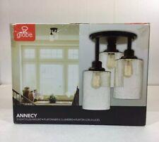Globe Annecy 3-Light Oil Rubbed Bronze Semi-Flush Mount Light New-Open box