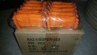 API RAZ-1 SUPER SINGLE BLADE DISPOSABLE RAZORS CASE LOT OF 500  BRAND NEW!