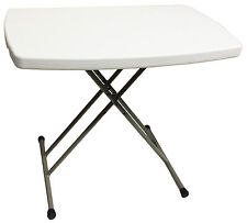 ADJUSTABLE FOLDING HEAVY DUTY PLASTIC CAMPING TABLE desk caravan bbq laptop tray