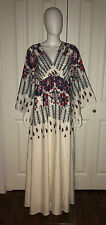 "NEW MEGHAN FABULOUS ""CONSTELLATION RED MOON"" KIMONO BOHO MAXI DRESS 4 S"