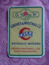 "GROVES & WHITNALL BREWERY ""  'C' ALE "" PAPER BEER BOTTLE LABEL. RARE (No1)"
