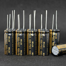 10PCS Japan NICHICON 100V 220UF High-end MUSE KZ Audio Electrolytic Capacitor