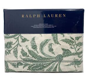 NEW Ralph Lauren Charleston Preslie Floral Botanical Green King Duvet Cover 1PC