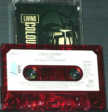 Living Colour ‎Stain CASSETTE ALBUM Epic‎4728564 Rock Funk Metal RED CLEAR SHELL