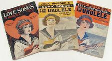 Vintage Jack Snyder's Ukulele Music Books - Set of 3